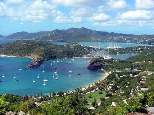 Antigua vistas desde shirley heights english harbour