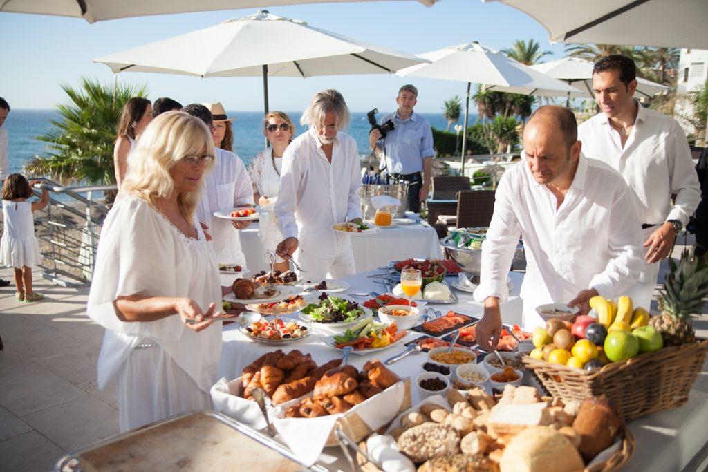 boda playa coctail recepcion comidas